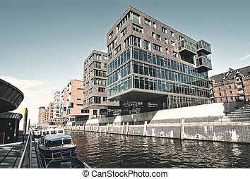 Hafencity in Hamburg - View from Hafencity Hamburg, Germany