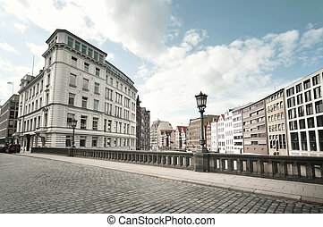 street view from Hamburg, Germany - street view from a...