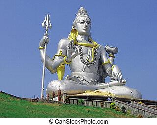 dios, shiva, estatua