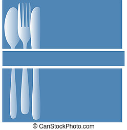 Menu background - a blue and white table setting background