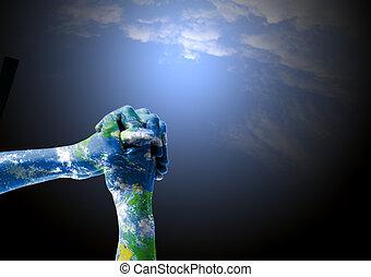 Spirituallity and empathy for Earth - Hands on praying...