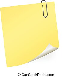 Yellow sticky note Vector Clipart EPS Images. 2,281 Yellow ...