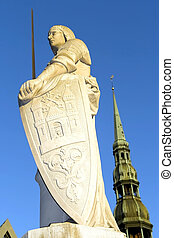Sculpture of Roland in Riga - Sculpture of Roland and St....