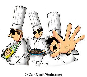 Secret Chefs - These chefs are protecting a secret recipe.
