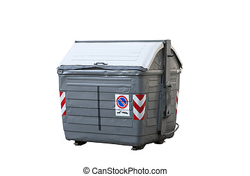 grey garbage container
