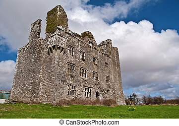 vibrant irish castle west of ireland