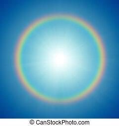 rainbow - A photography of a rainbow around the sun