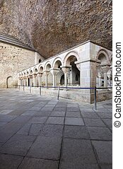 cloister - Romanesque cloister in the old monastery of San...