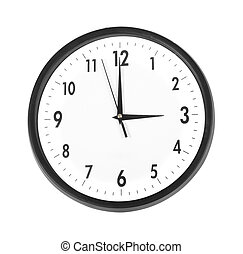 Wall clock, photo on the white background