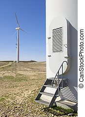 gateway to a modern windmill for electricity production
