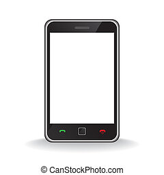 Modern mobile smart phone - Vector - Illustration of a...