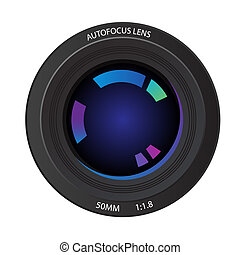 Camera lens - Vector - Illustration of a 50mm camera lens...