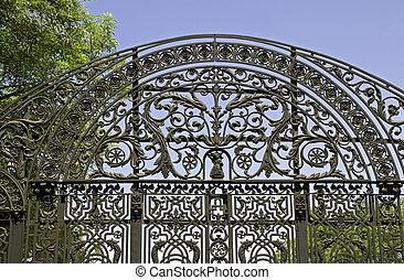 Ornate wrought iron gate