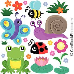 Spring animals and insect theme set 1 - Spring animals and...