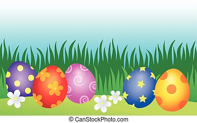 Decorated Easter eggs theme image 2