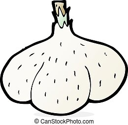 cartoon garlic