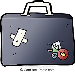 cartoon luggage