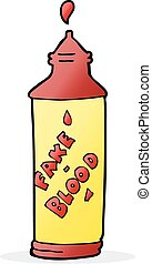 cartoon fake blood