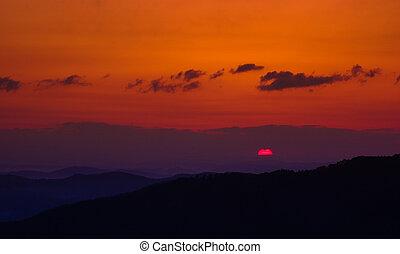 sunrising - sunrise take from okayama prefecture mountain