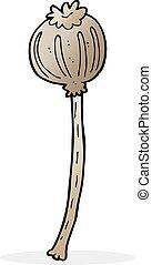 cartoon dried poppy