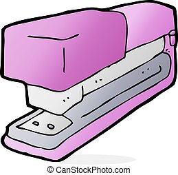 cartoon office stapler