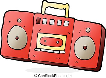 cartoon radio cassette player