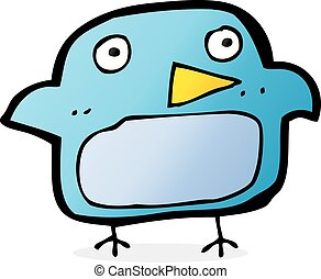 cartoon bluebird