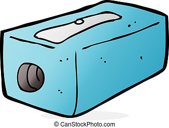 cartoon pencil sharpener