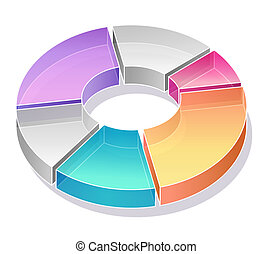 business pie chart - color pie chart in white backgtound