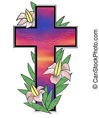 Easter Sunset Cross