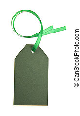 green tally is isolated on a white background