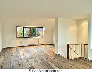 Interior with wooden floor