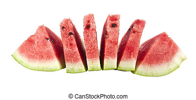 water-melon isolated on a white background