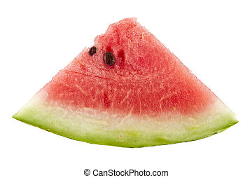 water-melon is isolated on a white background