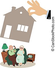 Elderly losing home - Senior couple losing their house to...