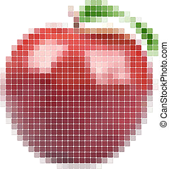 Illustration of tiled red apple