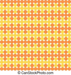Orange and yellow dots monochrome and alternately set in...