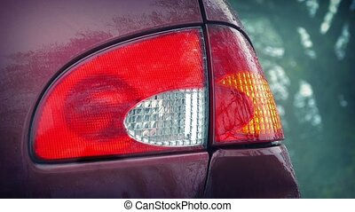 Flashing Car Light, Passing Cars - Rear light on car...