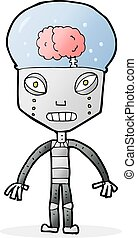 cartoonw weird robot - cartoon weird robot