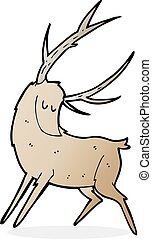 cartoon stag