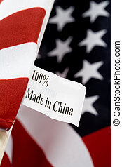 Made in china - USA flag, made in china