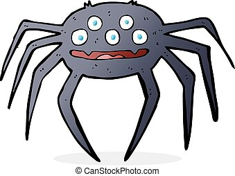 cartoon halloween spider