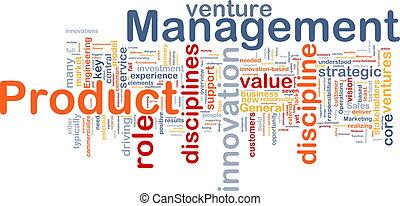 Product management background concept