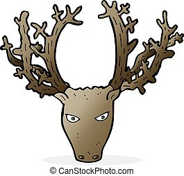 cartoon stag head