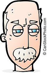 cartoon annoyed old man