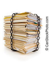 Chain and file stack, concept of Confidential Document