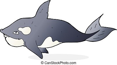 cartoon killer whale