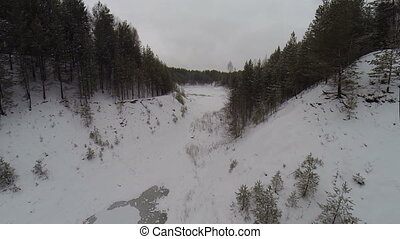 Aerial: winter wonderland black forest - winter landscape in...