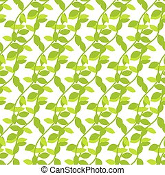 Stylized cartoon liana jungle seamless pattern Green ivy...