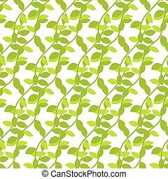 Stylized cartoon liana jungle seamless pattern. Green ivy...